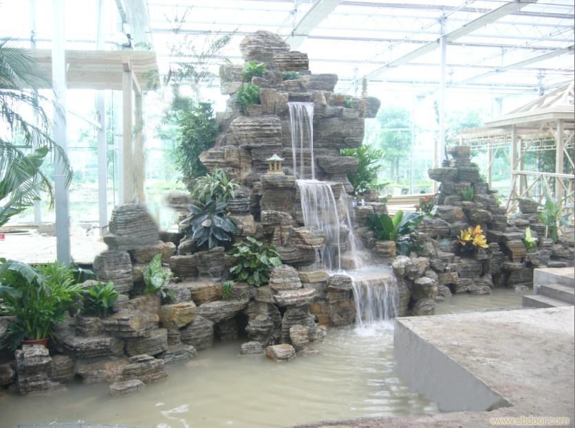水池假山设计图片